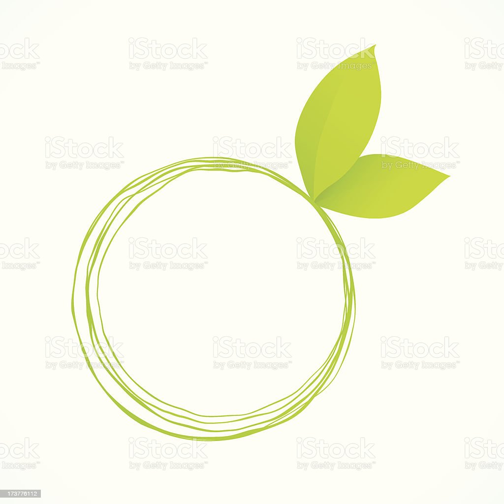 Green Circle Frame With Leaves royalty-free stock vector art
