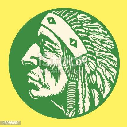 Native American Man Profile