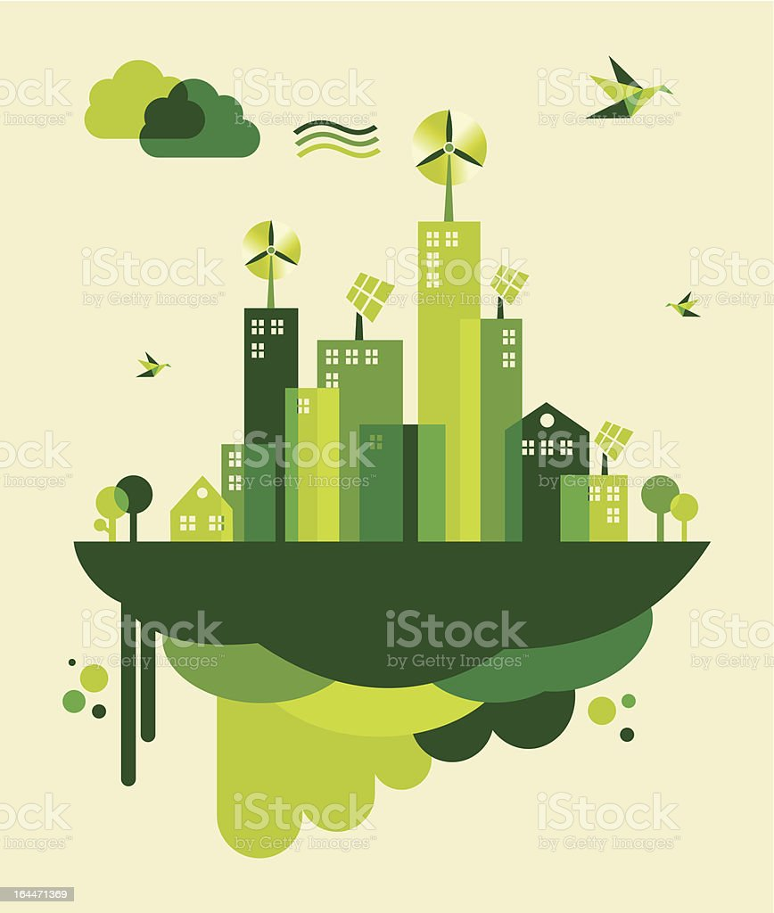 Green city concept illustration royalty-free stock vector art