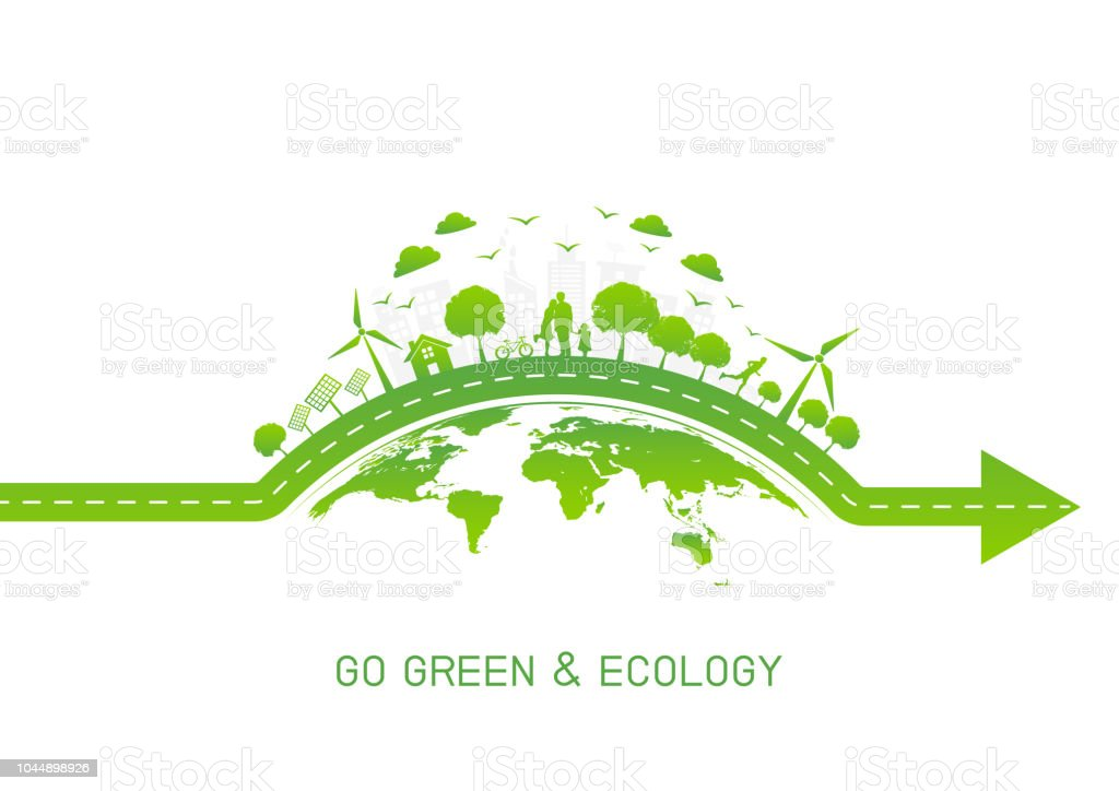 Green City On Earth For Go Green And Ecology Friendly Concept