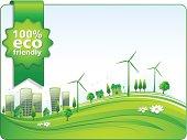 Eco Friendly Modern City. EPS 10 file.