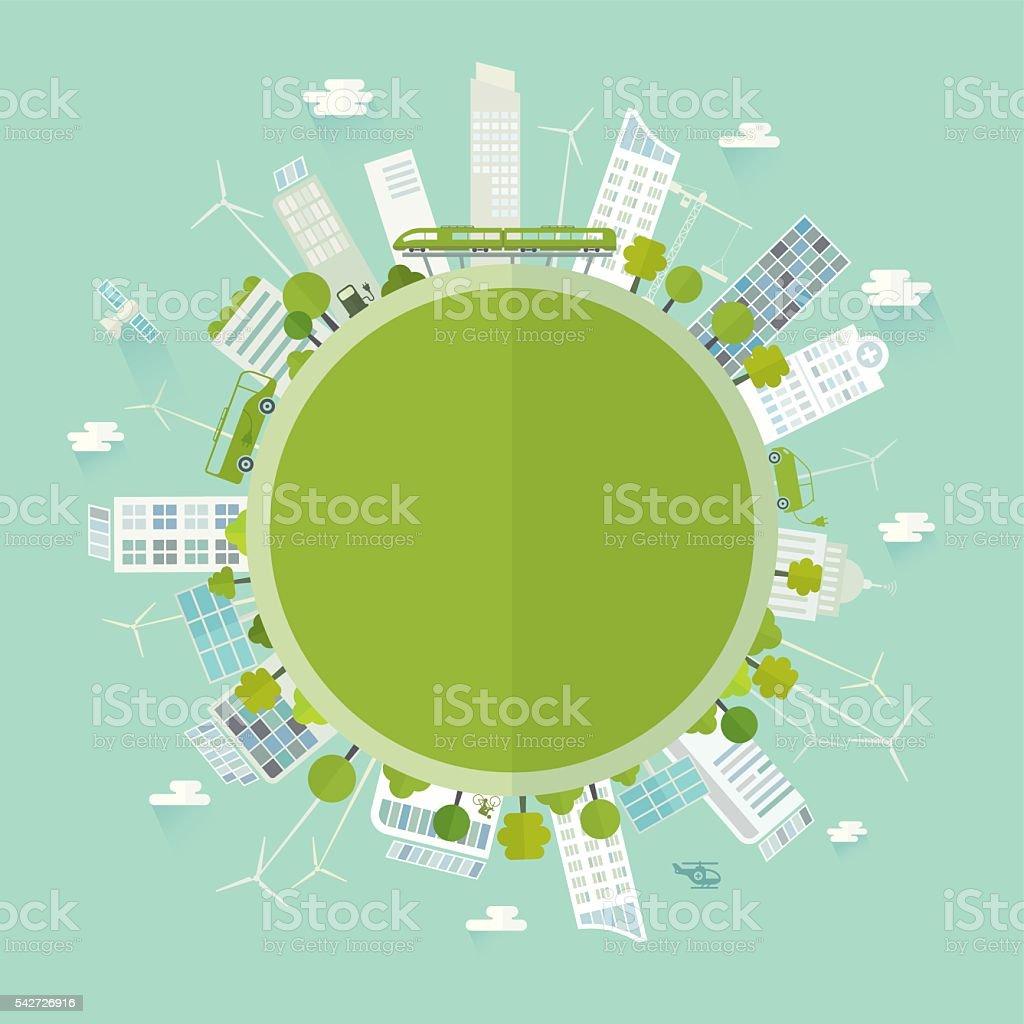 Cidade verde - ilustração de arte em vetor