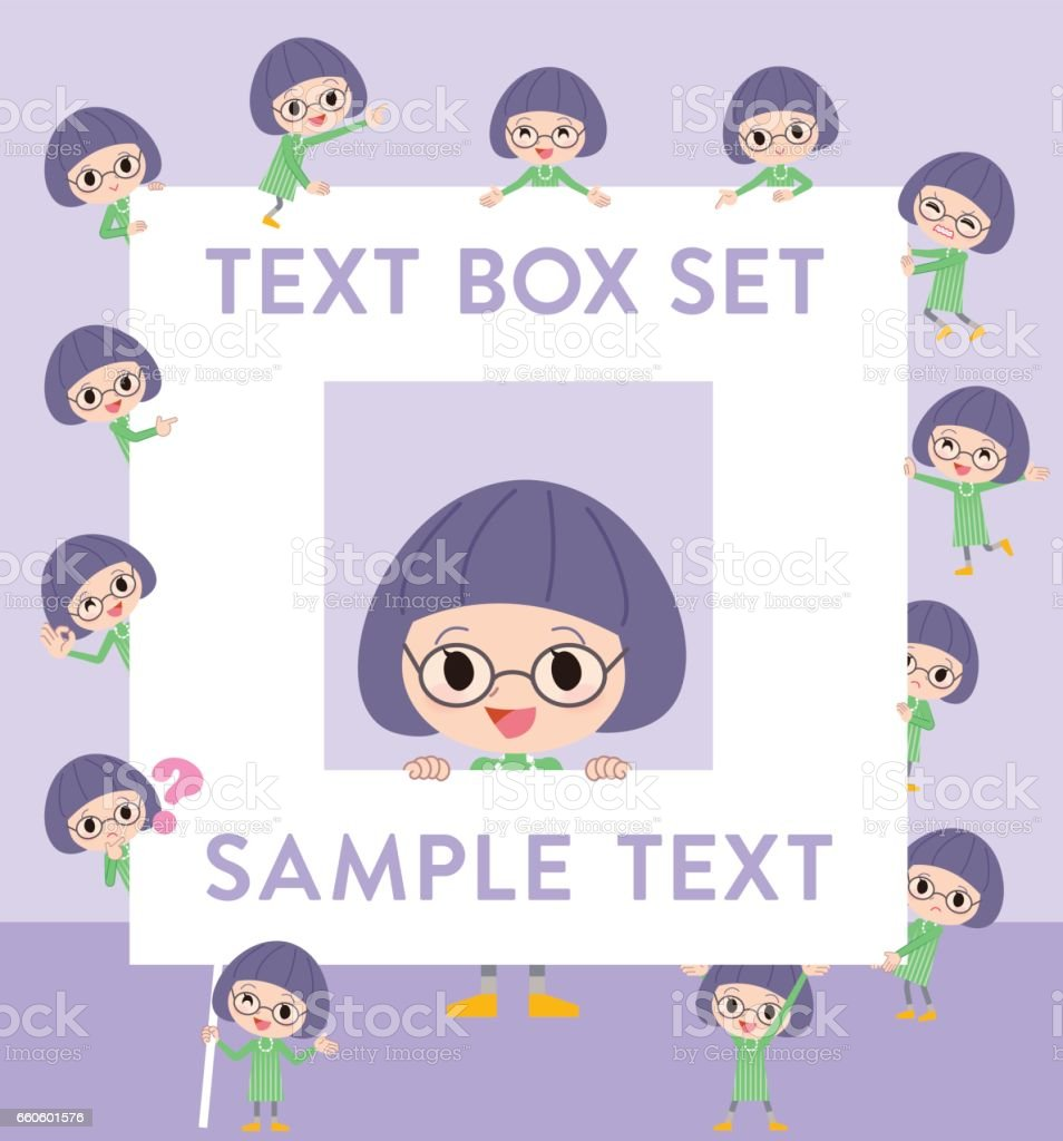 Green clothes Bobbed Glasses girl text box royalty-free green clothes bobbed glasses girl text box stock vector art & more images of adult
