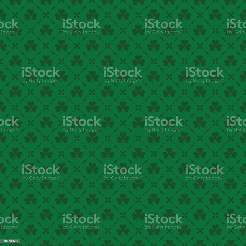 Green clover background for St. Patricks Day vector art illustration
