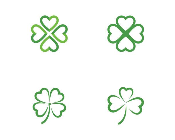 Green Clover Leaf icon Green Clover Leaf   Template vector illustration shamrock stock illustrations