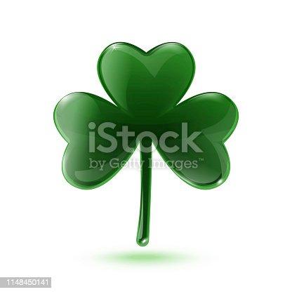 istock Green clover leaf 1148450141