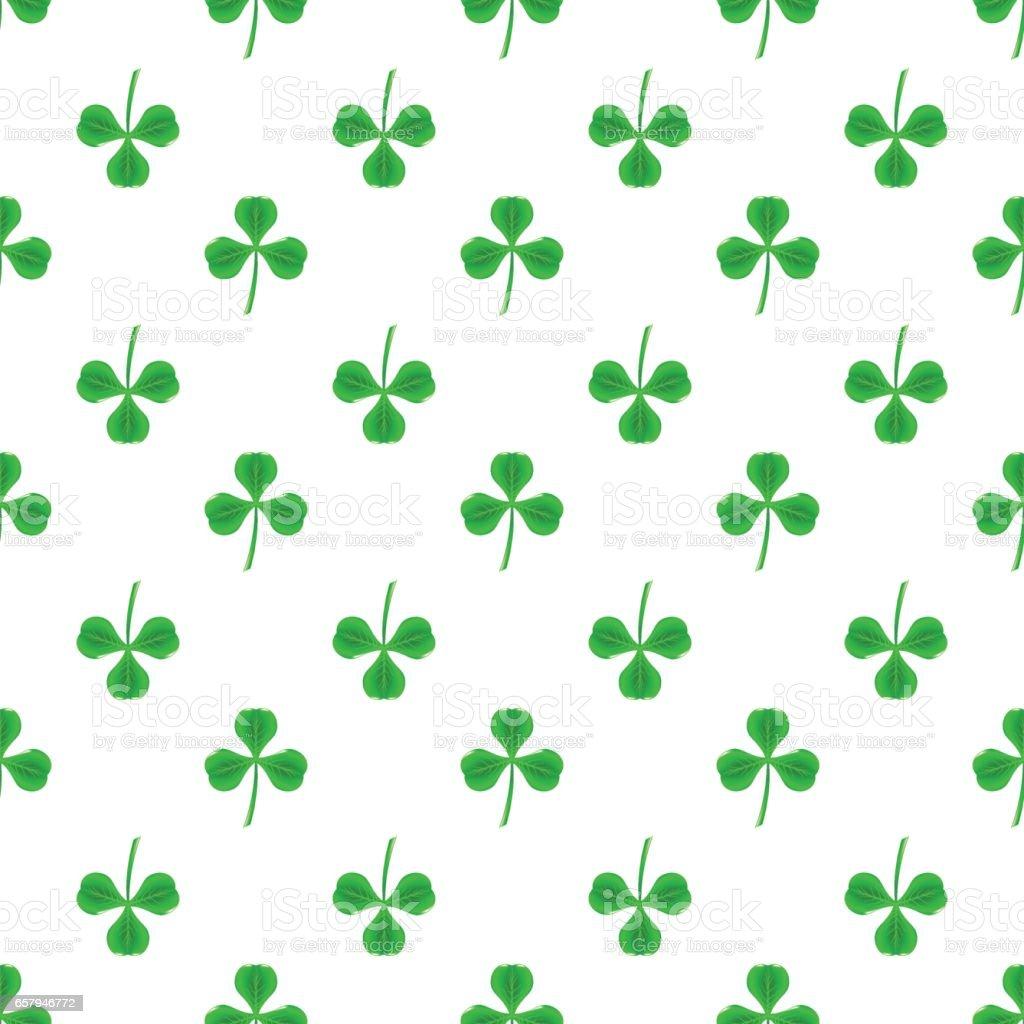 Green Clover Seamless Pattern Shamrock Background Stock ...