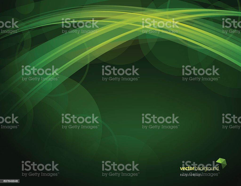 Green color defocus and blurry background vector art illustration