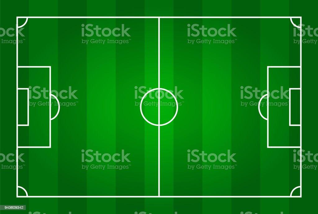 Green color football stadium field . vector art illustration