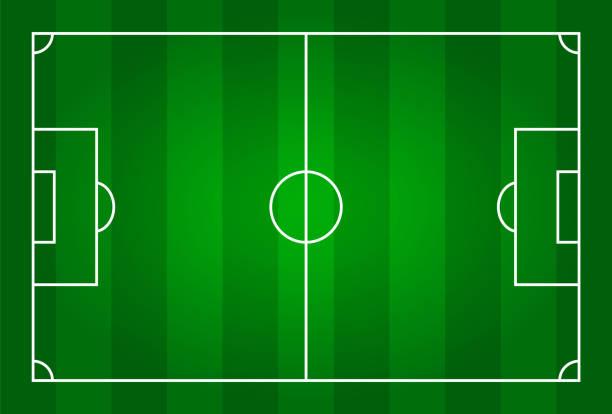 Green color football stadium field . Green color football stadium field . Top view . soccer field stock illustrations