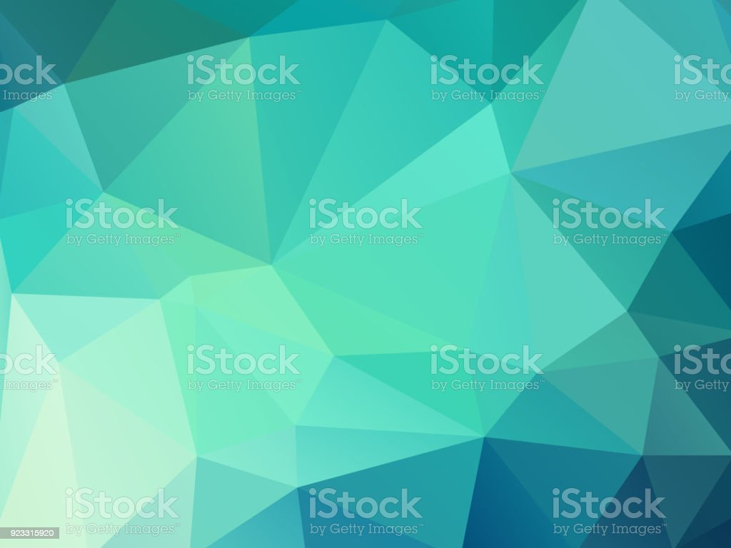 green color geometric mosaic background vector art illustration