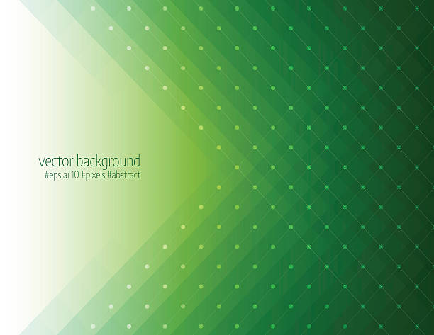 Green color pixels background vector art illustration
