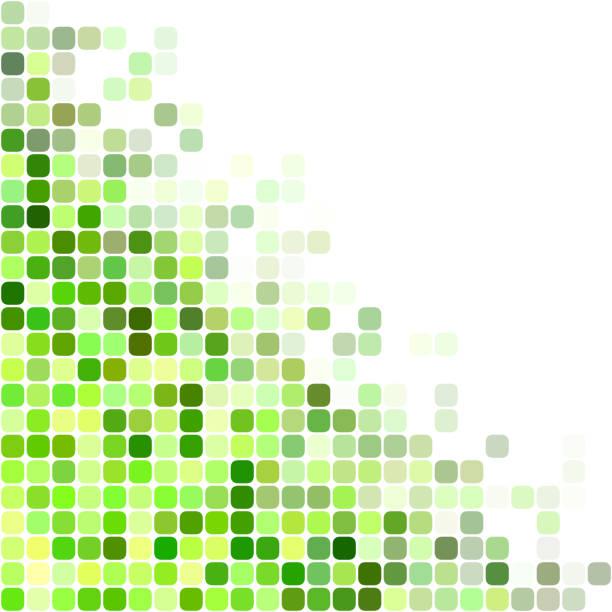 stockillustraties, clipart, cartoons en iconen met groene achtergrondkleur vierkante mozaïek - green background