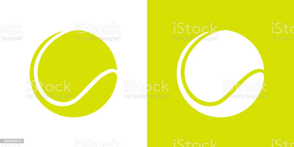 Graphique de couleur verte tennis ball - Illustration vectorielle