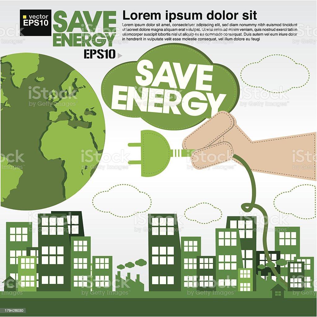 Green concept illustration. royalty-free stock vector art
