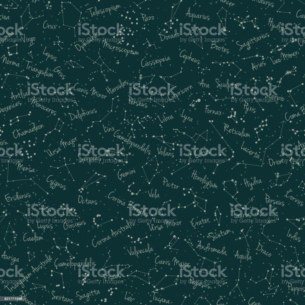 green constellation seamless1 копия vector art illustration