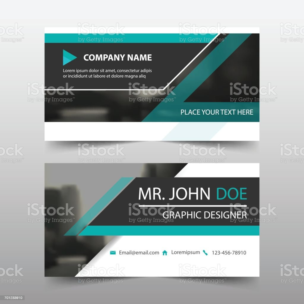 Green Corporate Business Card Name Card Template Horizontal Simple ...