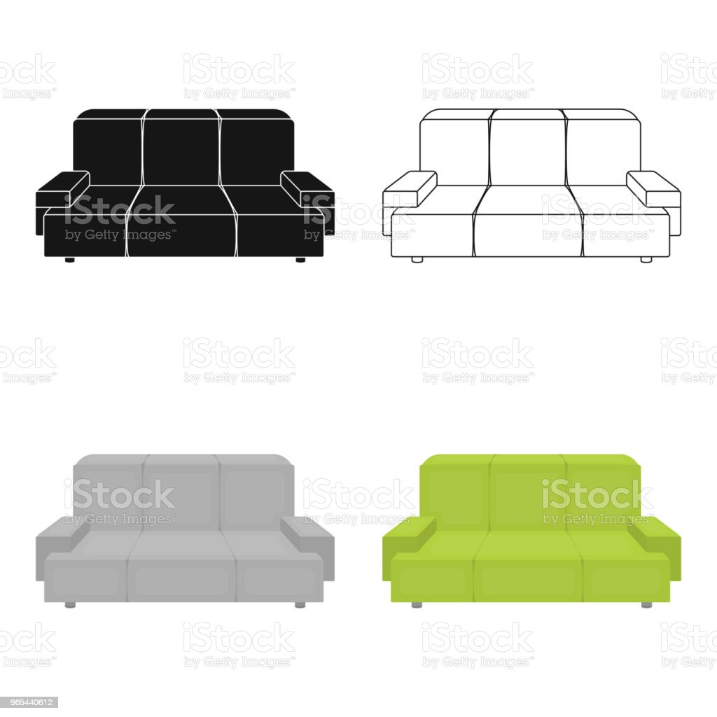 Green couch icon in cartoon style isolated on white background. Office furniture and interior symbol stock vector web illustration. royalty-free green couch icon in cartoon style isolated on white background office furniture and interior symbol stock vector web illustration stock vector art & more images of art and craft