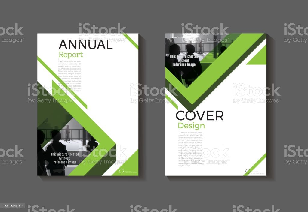 Modern Book Cover Design Template : Green cover design modern book abstract brochure