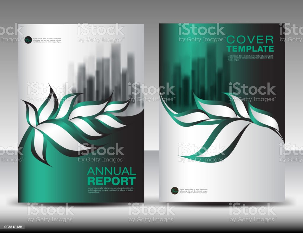 green cover design template vector nature organic leaves creative idea can be use to