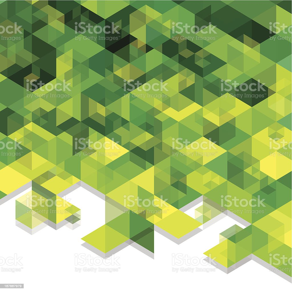 green cubes royalty-free green cubes stock vector art & more images of abstract