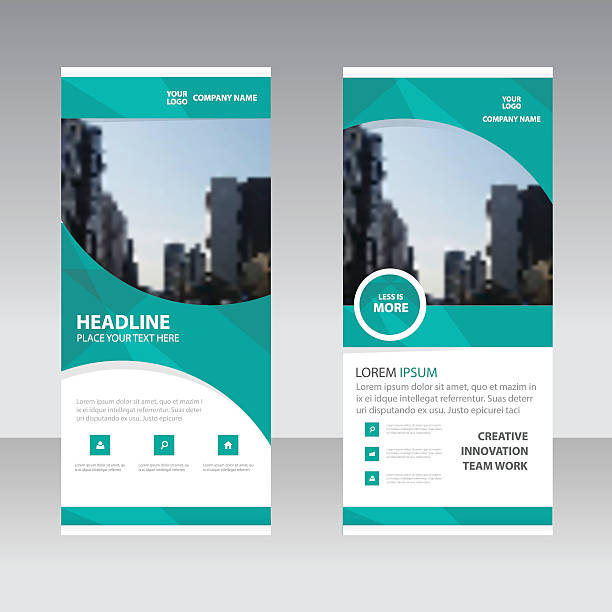 Green curve polygon astract triangle Business Roll Up Banner flat Green curve polygon astract triangle Business Roll Up Banner flat design template ,Abstract Geometric banner template Vector illustration set, abstract presentation template rolling stock illustrations