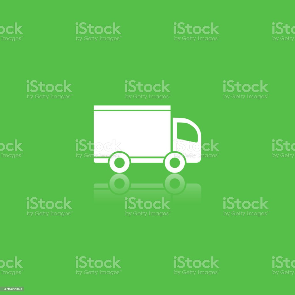 green delivery icon vector art illustration