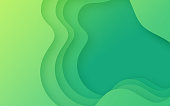 Green abstract layered background pattern.