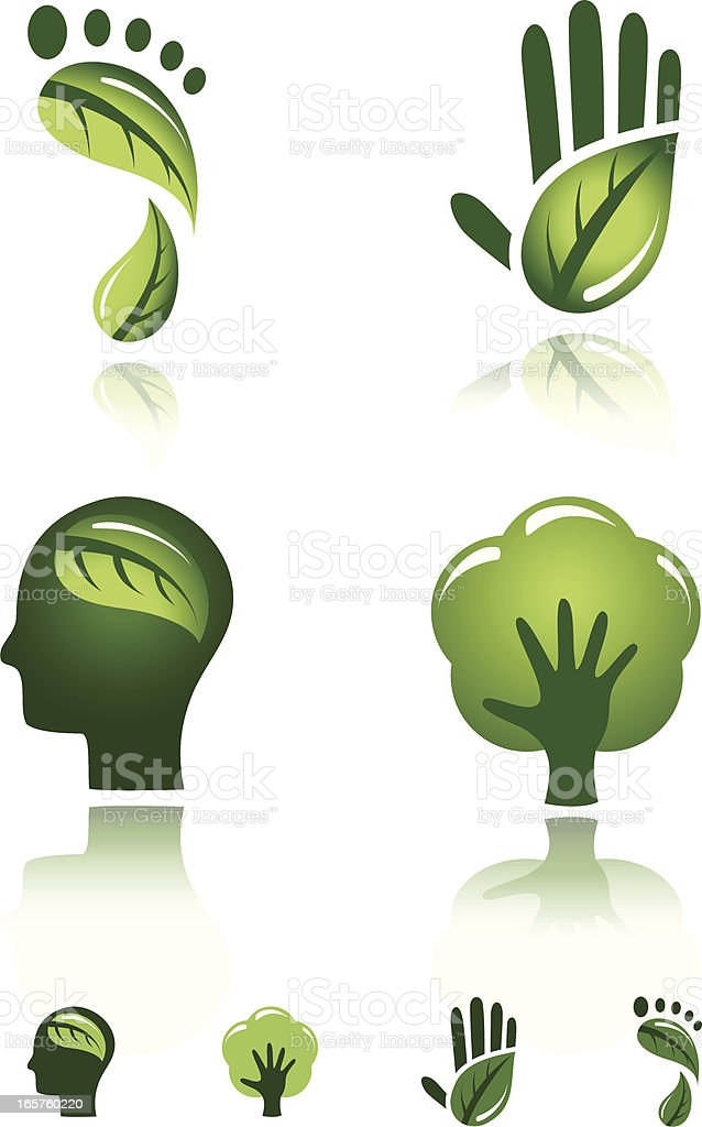 Green Design Icons royalty-free stock vector art
