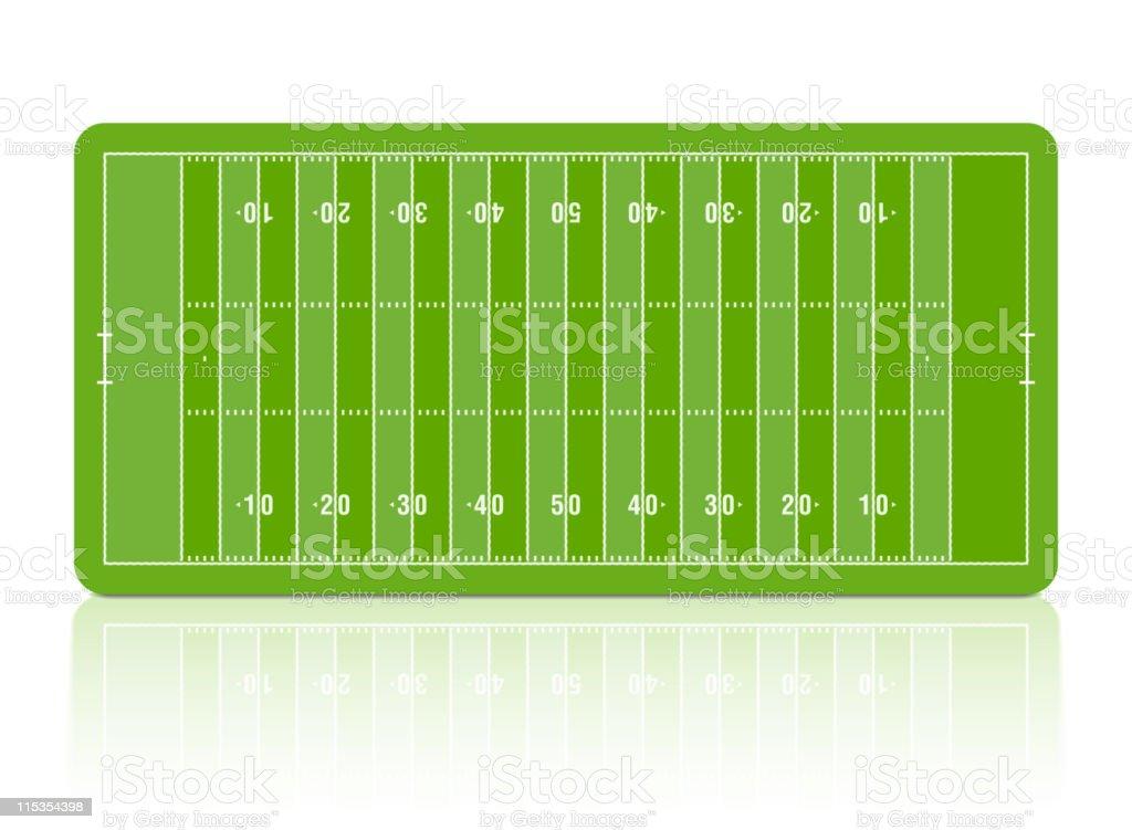 Green diagram of football pitch vector art illustration