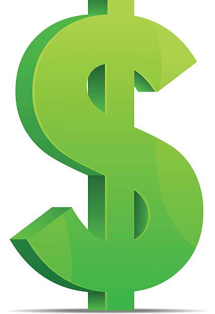 ilustrações, clipart, desenhos animados e ícones de verde símbolo do dólar - símbolo do dólar
