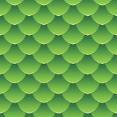 Green Dragon Scale Seamless Vector Pattern