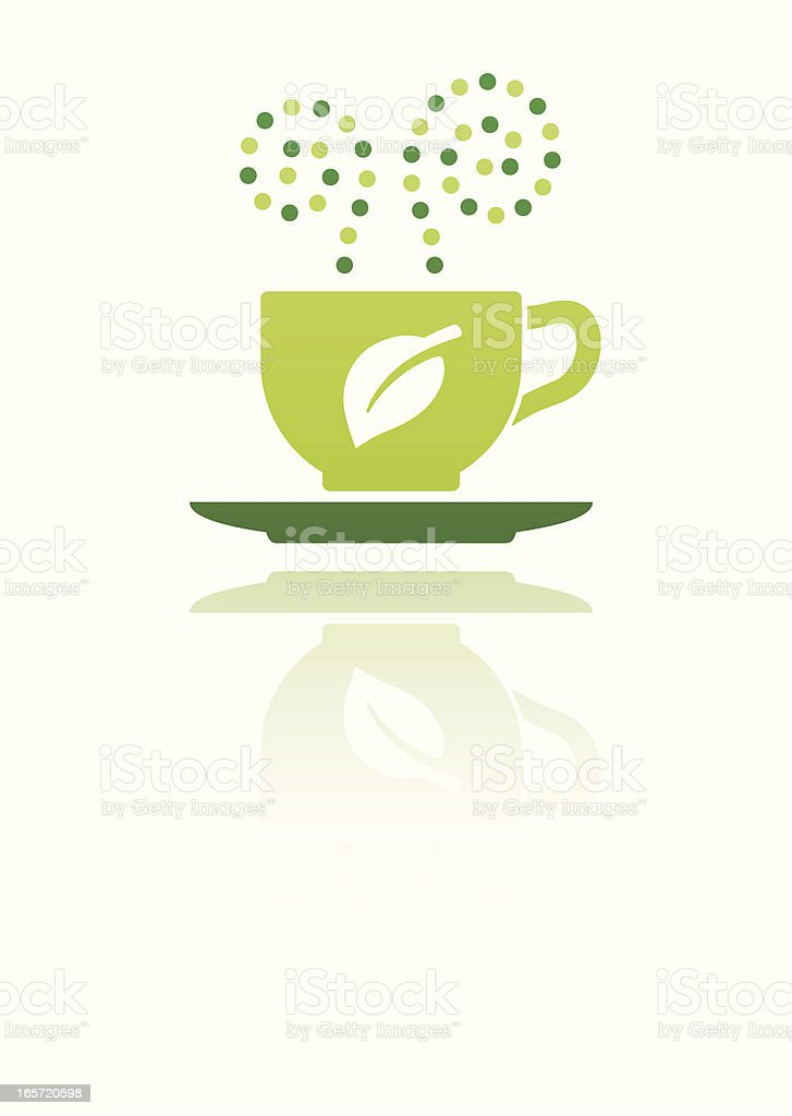 green drink on white royalty-free stock vector art