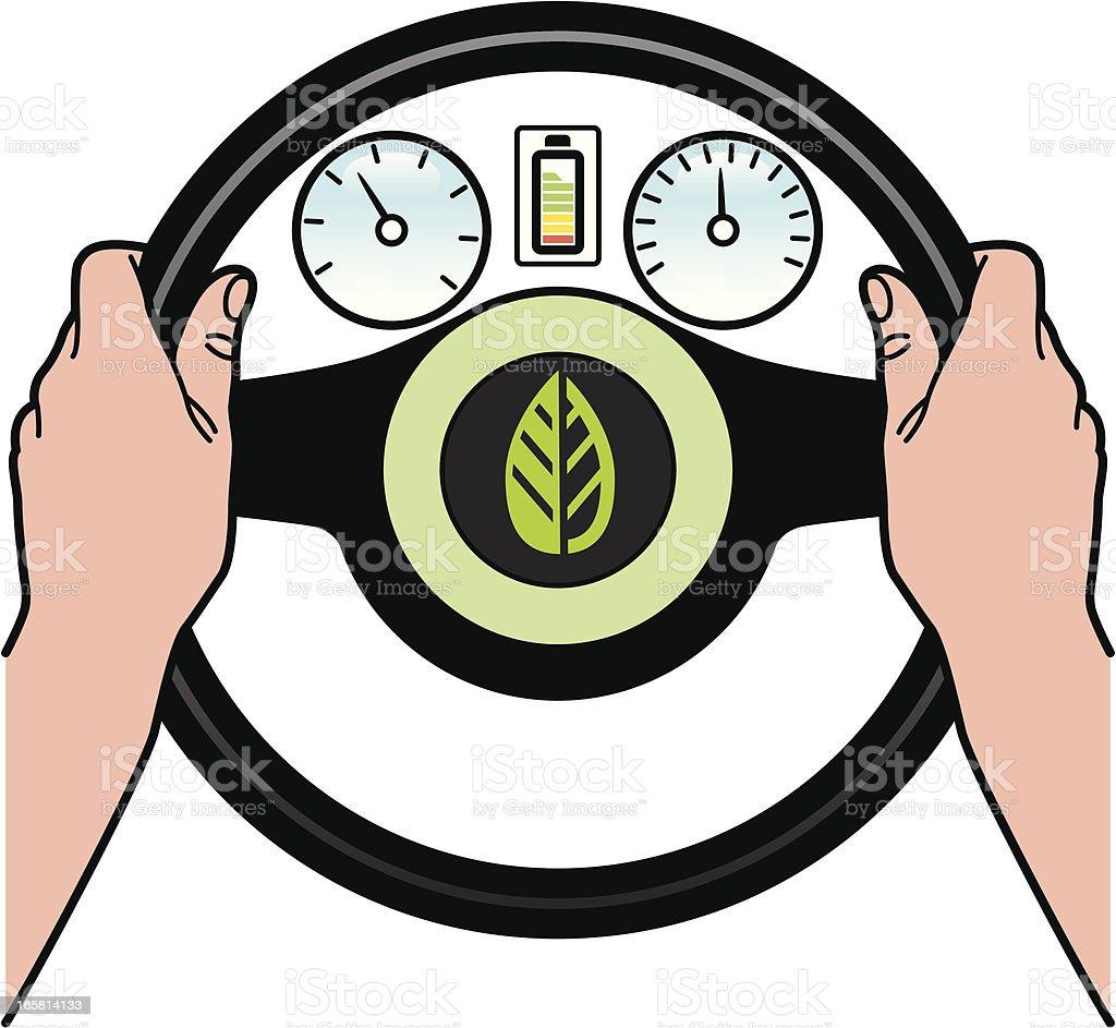 Green driver royalty-free stock vector art