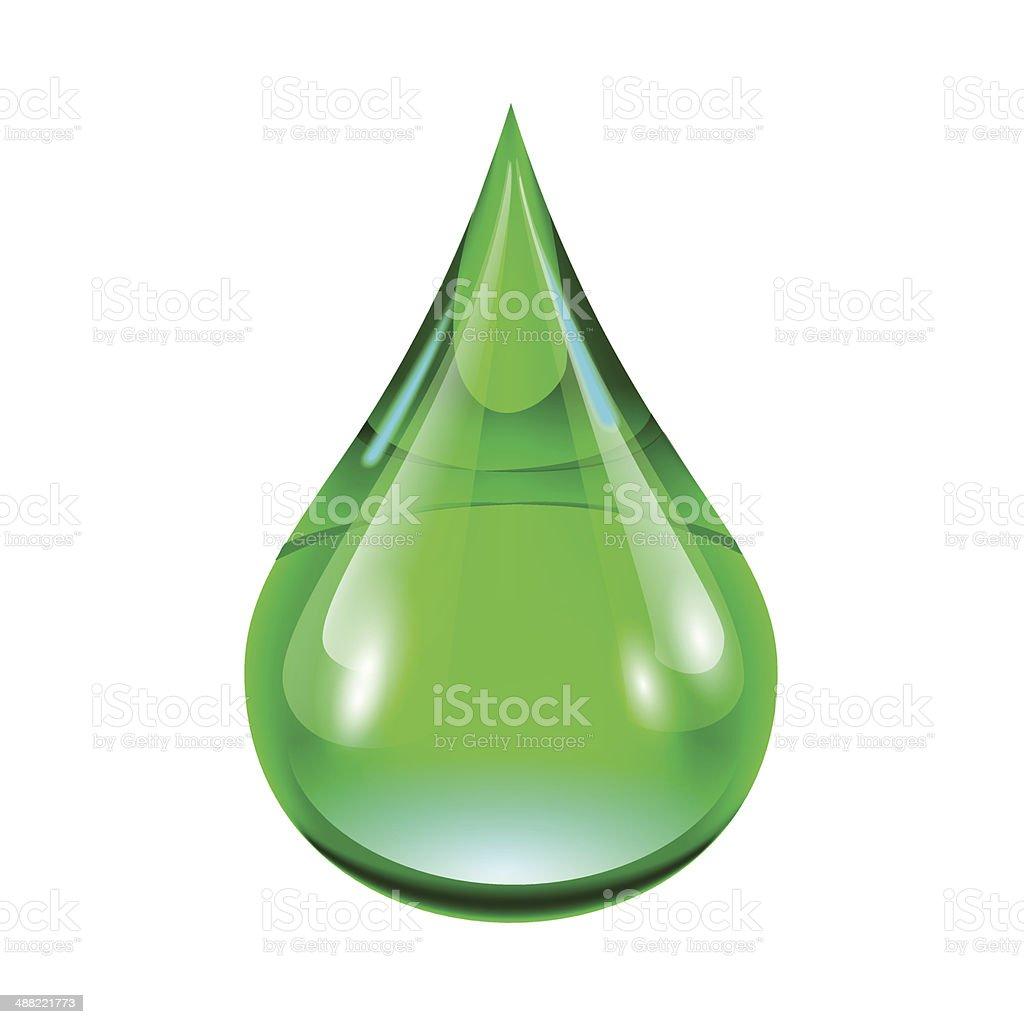green drop royalty-free stock vector art