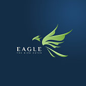 Green Eagle gradient modern logo for your new project, mockup, etc