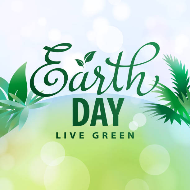 green earth and plant - earth day stock illustrations