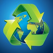 Green Earth Recycling Concept