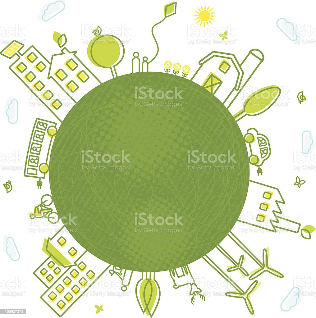 Green Earth royalty-free stock vector art