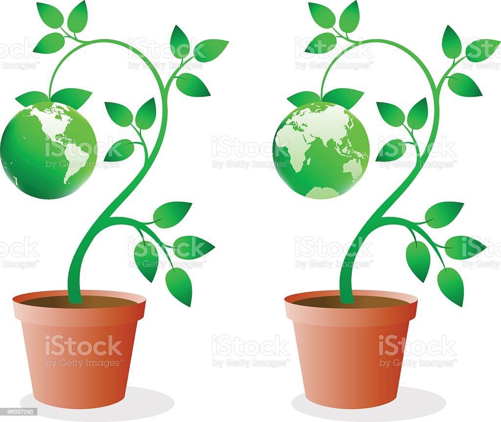 Green Earth ~ Vector - Royaltyfri Affärsresa vektorgrafik