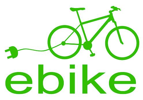 green ebike symbol silhouette