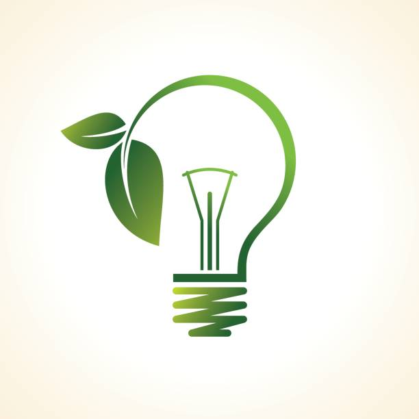 green eco energy concept, plant growing inside the light bulb green eco energy concept, plant growing inside the light bulb sustainable energy stock illustrations