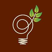 green eco energy concept.