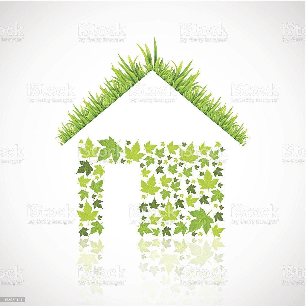 green eco house royalty-free stock vector art
