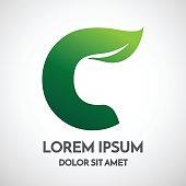 green eco letter u logo template design stock vector art more
