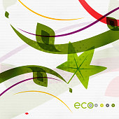 Green eco nature minimal floral concept