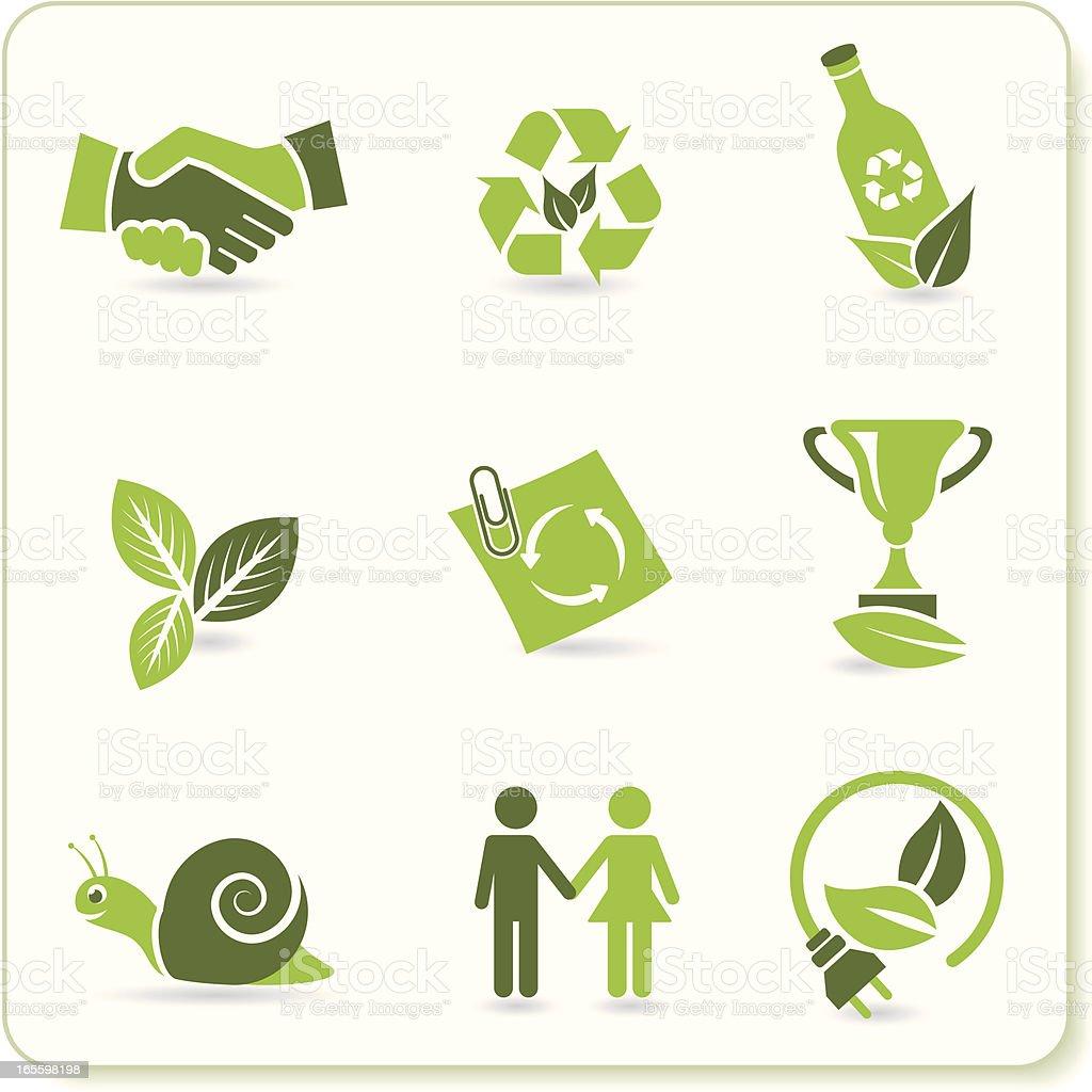 Verde Eco símbolos ilustração de verde eco símbolos e mais banco de imagens de adulto royalty-free