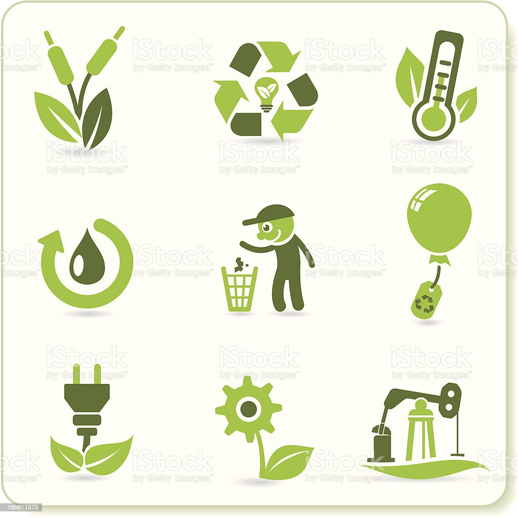 Green Eco Symbols royalty-free green eco symbols stock vector art & more images of adult