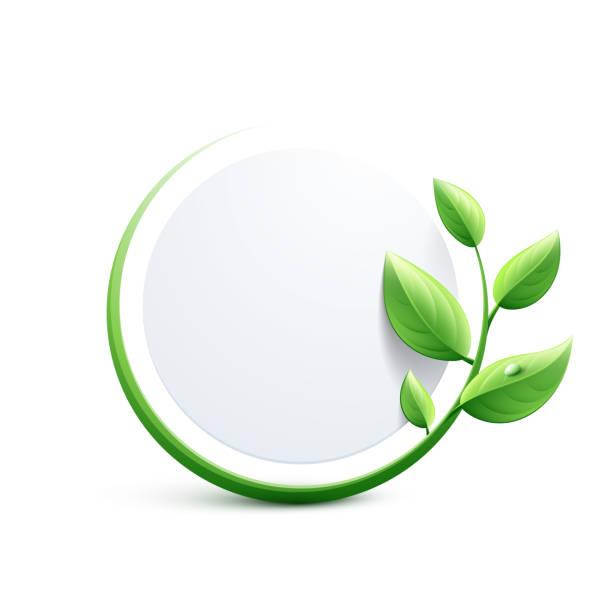 Green eco-friendly design Green eco-friendly design green leaf stock illustrations