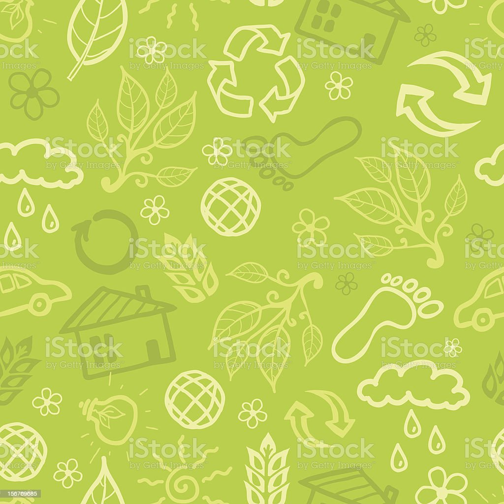 Green ecological seamless pattern royalty-free stock vector art